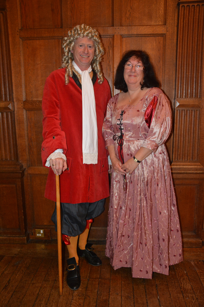 Kevin and Sandra in Playford Costume